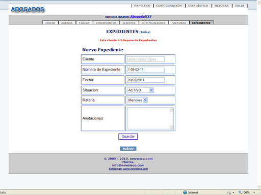 software expedientes abogados